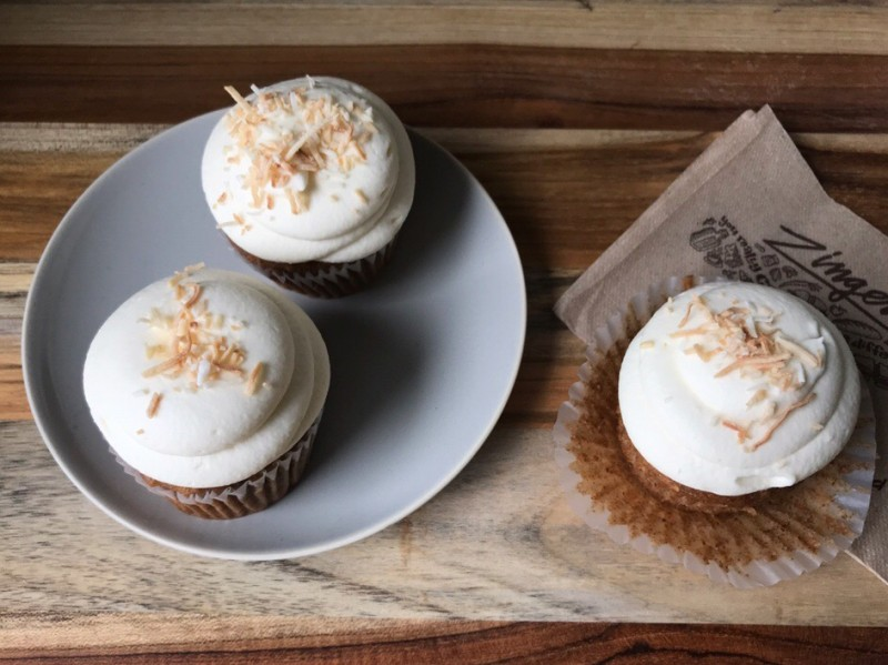hummingbird cupcakes with a zingerman's napkin