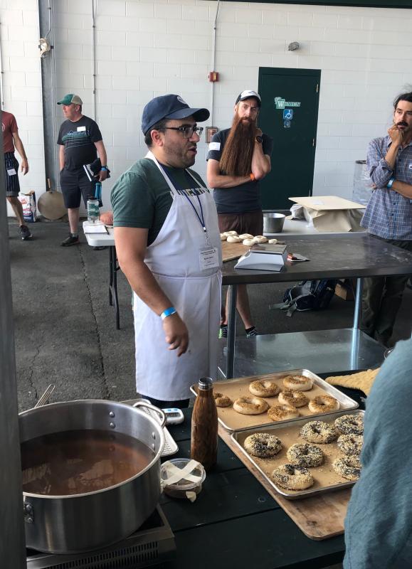 naturally leavened bagels