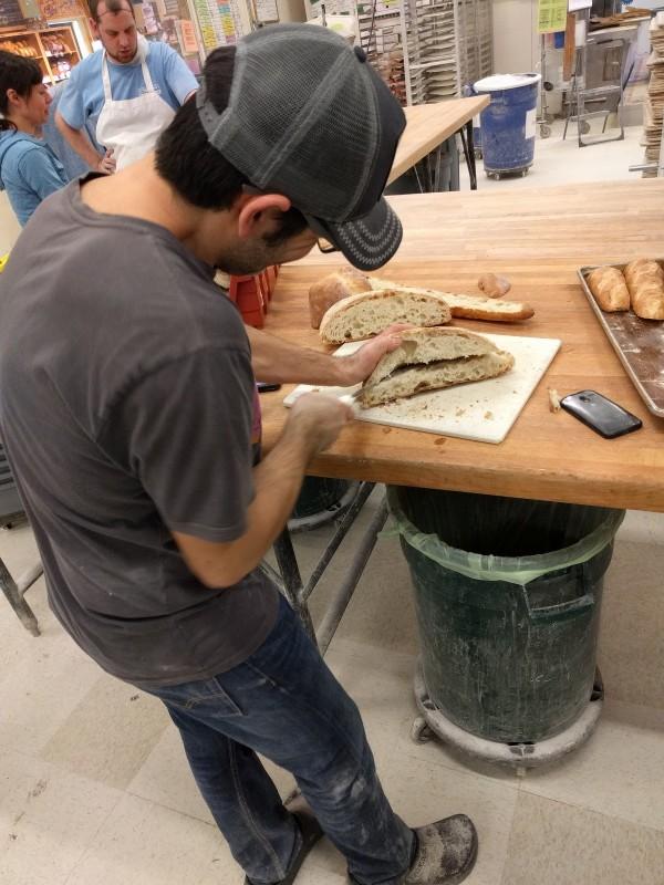 Hazim slicing bread