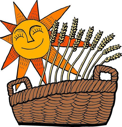 Cartoon of grains with the sun