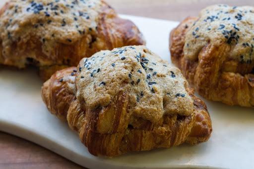tahini almond croissants