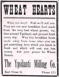 advertisement for Wheat Hearts