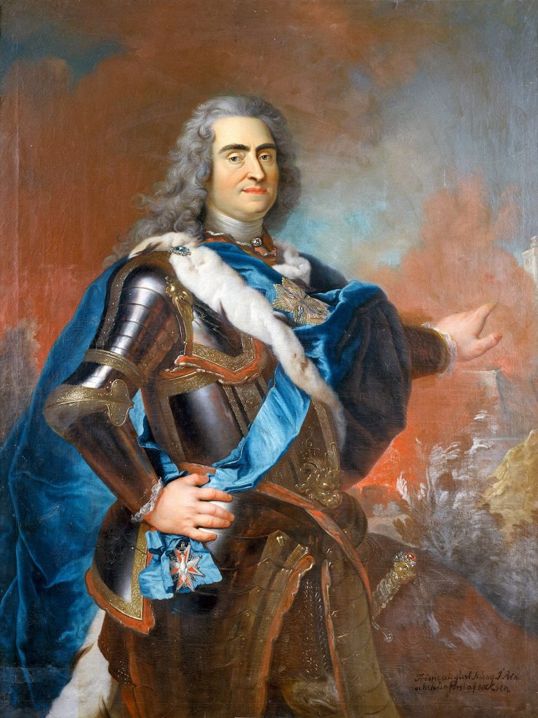 Painted Portrait of Augustus II, The Strong