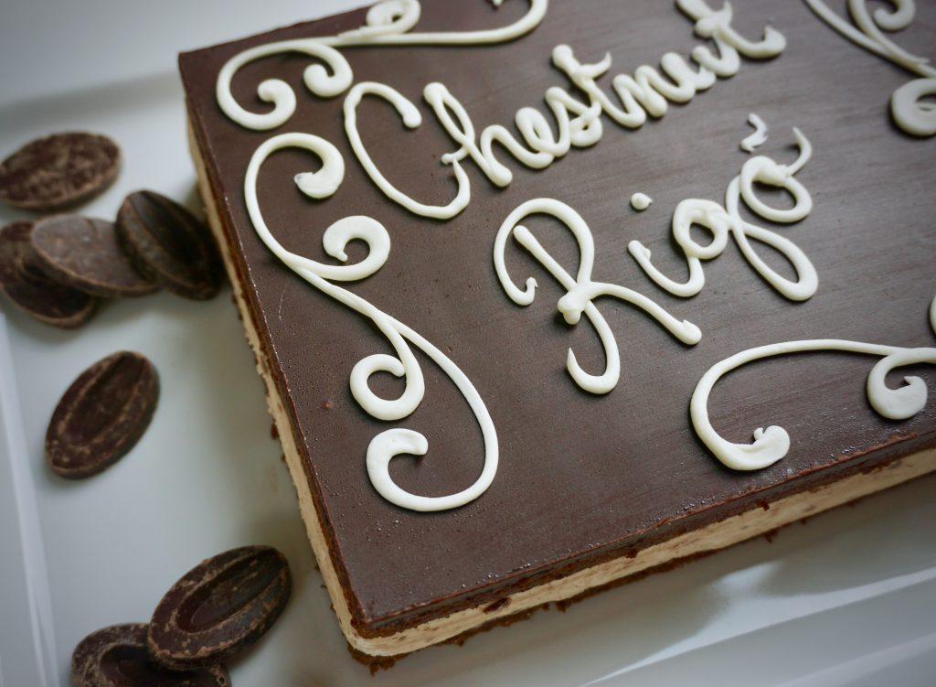 hungarian food - chestnut rigo cake