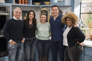 Geoffrey Zakarian, Katie Lee, Lindsay-Jean Hard, Jeff Mauro, and Sunny Anderson, as seen on Food Network's The Kitchen