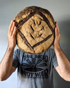 vegan bread—country miche