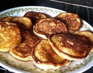 freshly milled pancakes