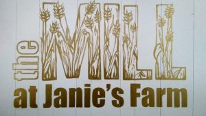 the Mill at Janie's Farm sign