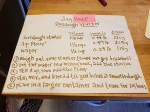 sourdough starter day 4 recipe