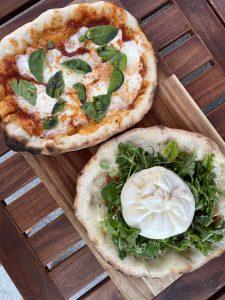 pizza with burrata