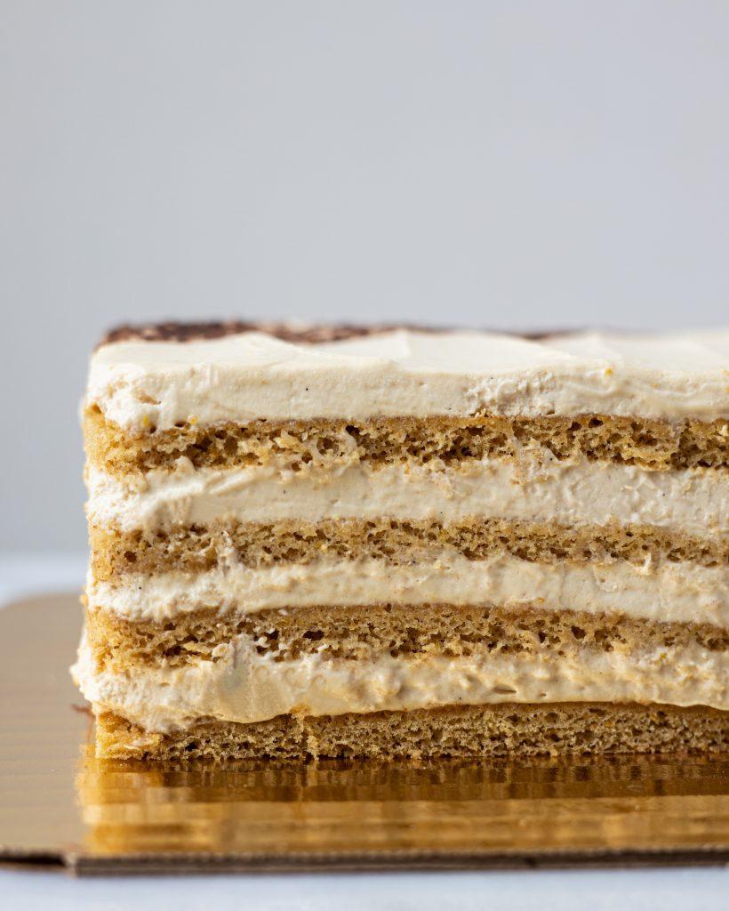 a slice of Mézes Krémes torta