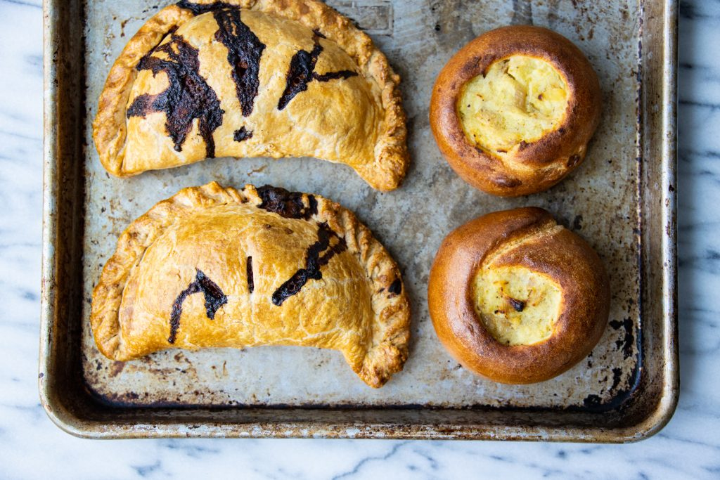 Potato Knish and Beef Pasties
