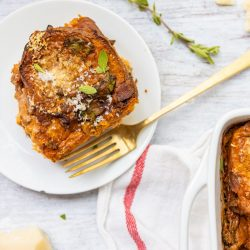 Savory Bread Pudding with Bacon, Tomato, and Spinach