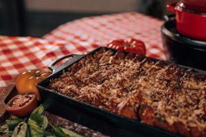 tomato soup bread pudding lodge pan