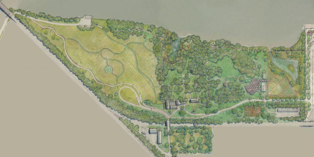 map of Bartrams Garden
