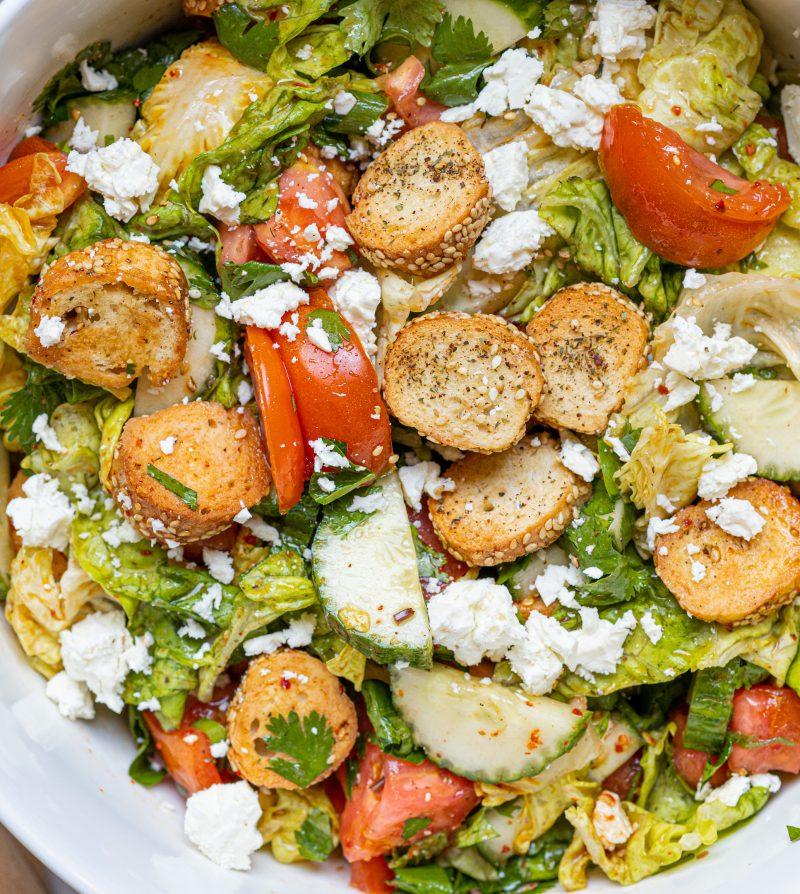 bagel fattoush salad