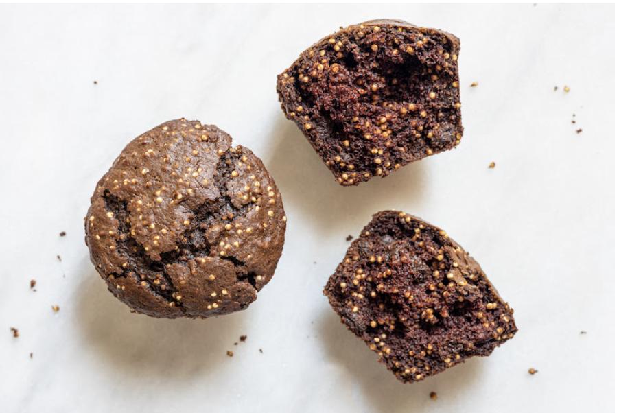 chocolate millet muffins